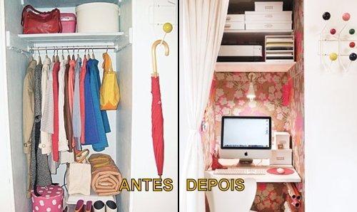 Marceneiro / Transforme seu armário em um escritório