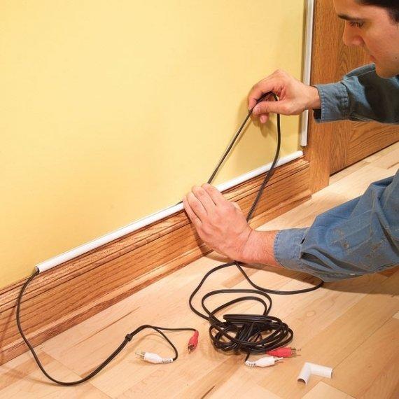 Eletricista / Como esconder os fios dos aparelhos?