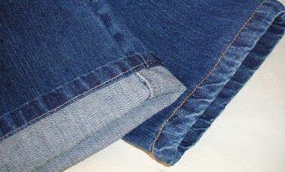 Costura / Como fazer a barra da calça jeans