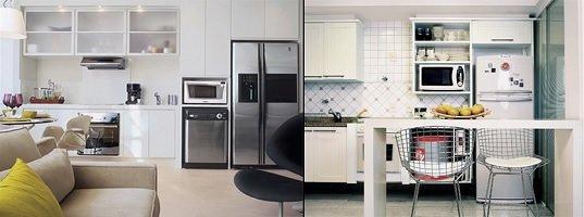 Marceneiro / Como planejar os móveis de cozinhas pequenas
