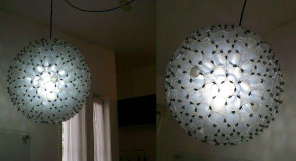 Decorador / Luminárias modernas feitas com copos descartáveis
