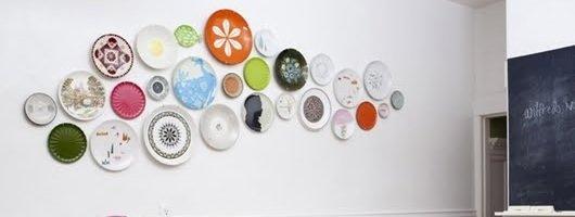 Decorador / Pratos decorativos na parede