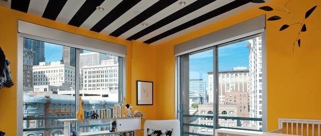 Arquiteto / Decoração: Papel de parede no teto