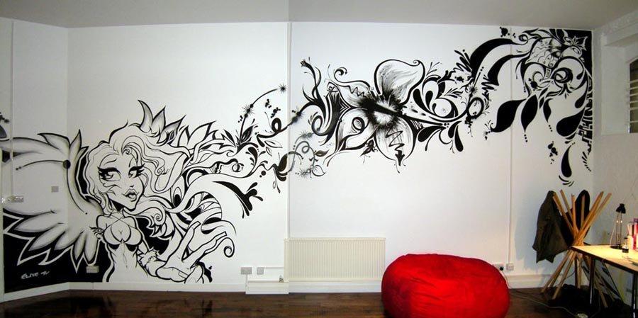 Veja como decorar sua casa com grafites guia do getninjas - Graffitis para habitaciones ...