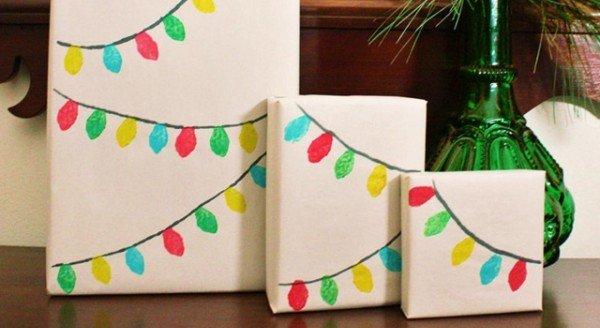 embalagens para os presentes de Natal
