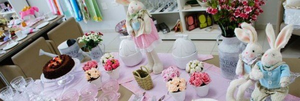 Decoração de Festas / Decorando a mesa de Páscoa
